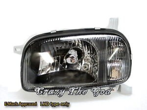 Micra-March-K11-1992-1997-Glass-Crystal-Headlight-Black-DEPO-for-NISSAN