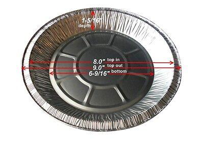 9 Disposable Foil Pie Pan Tin 1 5/16 Deep 25/pk - Aluminum Plate Ref 2100-40