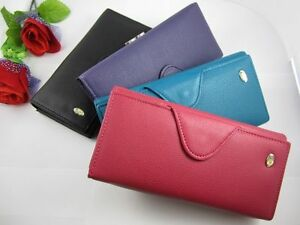 NEW-Womens-Button-PU-Leather-Bifold-Wallet-Clutch-Purse-Long-Handbag-Lady-Bag