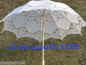 Battenburg-5-colors-Ivory-white-black-red-Lace-Parasol-Umbrella-Wedding-Bridal