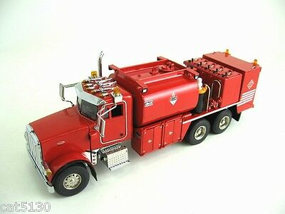 Peterbilt 357 Fuel+lube Truck - red - 1/50 - Sword Sw2041r