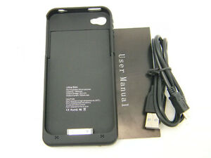Black-New-1900mA-External-Backup-Battery-Charger-Case-Black-For-Iphone-4-4G-4S