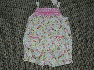 Gymboree Mini Blooms Pink Floral Bubble Suit Jumper 18 24 Months