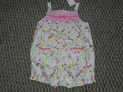 Gymboree Mini Blooms Pink Floral Bubble Suit Jumper 18 24 Months