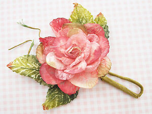 Scrapbooking FLOWERS manor house  frosted wild rose