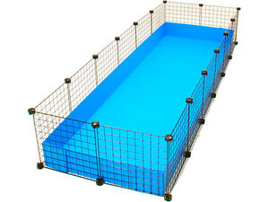 new cube coroplast guinea pig cage 2x6 grid c c jumbo
