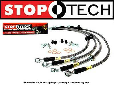 STOPTECH STAINLESS STEEL FRONT SET BRAKE LINES 04 09 MAZDA RX 8 13L all model