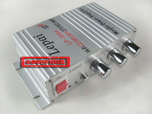 Mini-Hi-Fi-Audio-Stereo-Amplifier-Amp-mp3-iPod-Car-Motorcycle-12V-LP-268A