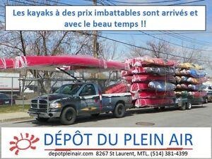 LES KAYAKS à  Prix imbattables sont arrivés! Faits au Canada!!