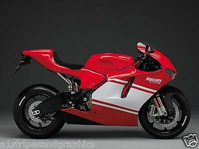 "Motorcyle 11"" Racing Faring stripes Stripe Graphics Ducati 998 999 1098 748 749"