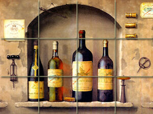 Art Mural Ceramic Wine Decor Backsplash Bath Tile #318