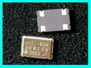 20MHz-VCC1-B3A-SMD-Vectron-New-x3pcs-Crystal-Oscillator-Clock-CMOS-MCU-XO