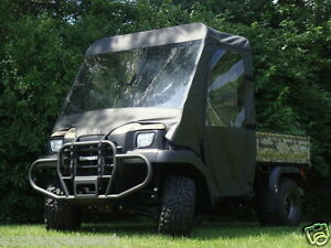 FULL-CAB-Enclosure-w-Tinted-Lexan-Windshield-Kawasaki-MULE-3000-3010-4000-4010