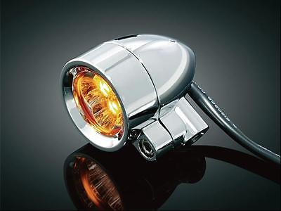 Kuryakyn Super Bright Silver Bullet Chrome Amber Led Dual Function Turn Signals on Sale