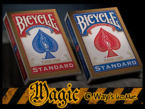 X002-New-Version-Of-2-Standard-Bicycle-Decks-Poker-Playing-Cards-Blue-Red