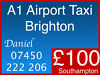 Cheap Taxi Cabs Southampton London Airports Gatwick Heathrow Stansted Luton Portsmouth Chichester Worthing Shoreham Portslade Brighton, West Sussex