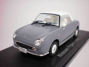 ## Nissan FIGARO 1/43 DieCast Model Close Lapis Gray, Norev, NEW RARE ##