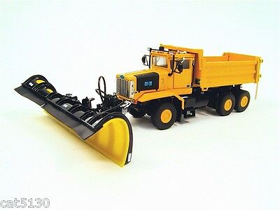 Oshkosh Snow Plow Truck - 3 Axle - yellow - 1/50 - Sword Sw3005y