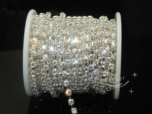 Diamante-SS16-Crystal-Rhinestone-Silver-Chain-10-yard-1