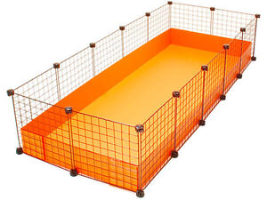 New cube coroplast guinea pig cage 2x5 grid c c xl for Coroplast guinea pig cage for sale