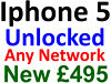 Brand New Iphone 5 Unlocked, Any Network, Unopened, Mobile Phone Dealer, Central West London Hammersmith, London