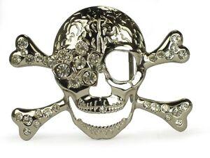 Rhinestone-skull-and-crossbones-belt-buckle