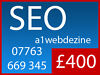 Google 1st Page Rank SEO - No Contract, No Setup Fee - a1webdezine Brighton Joomla Wordpress West Sussex