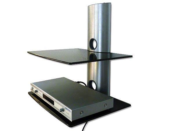 GLAS HALTERUNG PASST FÜR Wii PS3 PS4 KONSOLE ABLAGE TRÄGER REGAL WANDHALTER GL2