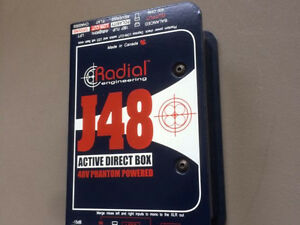 RADIAL ENGINEERING J48 ACTIVE DIRECT BOX - MINT!