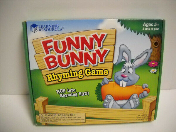 Learning Resources Funny Bunny Rhyming Game W/ Laminated 2-