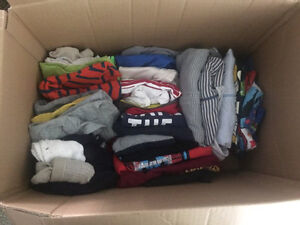 12-18mo/some 18mo box of assorted clothes+jacket