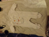 0-3 month fuzzy long sleeve footed bodysuit
