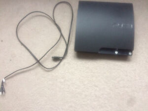 PS3 console, 2 controllers & charger