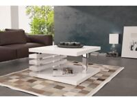 Carol Coffee Table in Black and White pnL