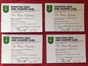 4 Rounds of Golf at Moncton Golf Club
