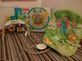 Fisher Price Deluxe Rainforest Theme Bouncer with box