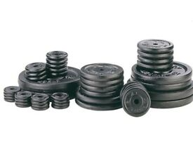 Weight Plates Cast Iron Standard 1 inch Fitting Weight Plates: NEW