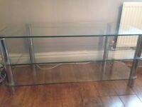 Television Glass Table for Large Screen TV