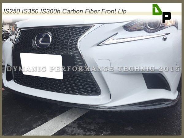 Carbon Fiber Front Lip Fit 2014-2015 IS250 IS300h IS350 Seden w/ F-Sport Bumper