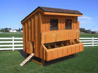 Chicken Coop Pa Dutch Amish Custom Pen Poultry Shed Hen House With Nest Box New