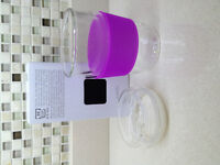 ReCup Travel Cup - Double Walled Glass - Purple Silicone Sleeve