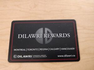 $50 gift card for Dilawri auto ($25 service +$25 sales)