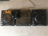 Pioneer CDJ1000 Mk 2 DJM600 set up