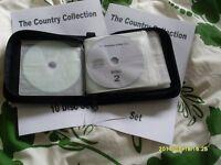 COUNTRY KARAOKE SET 10 DISCS + 2 BOOKLETS