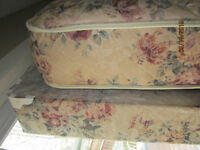 Single Pillow Top Boxspring and Mattress and frame
