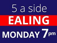 Monday 7pm Friendly 5 a side football at Ealing needs players