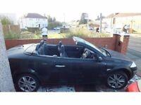 Renault Megane 2005 Cabriolet Convertible Dynamique Black 1.6L Petrol – £2000 ONO