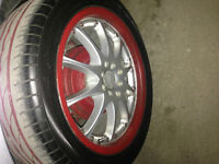 rims with tires..trades