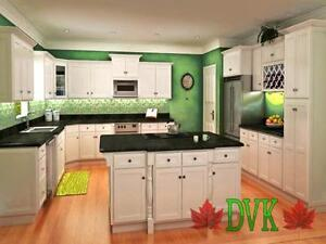 KITCHEN CABINETS ON SALE - Shaker Snow White Maple