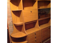 G-plan furniture - wall units and 6 chair extending table £490
